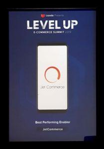 Best Performing E-commerce Enabler Jet Commerce Lazada Piagam
