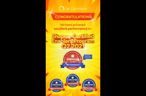 Jet Commerce Raih Penghargaan Tertinggi di Program Sertifikasi Enabler Shopee